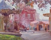 Smoky Morning - Cascais - original oil painting - FREE SHIPPING WORLDWIDE