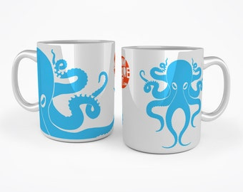 Octopus mug - Blue