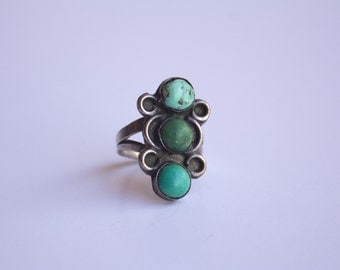 Navajo Made Silver and Turquoise Ring