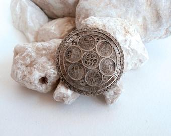 Mandala Jewelry - Filigree Silver - Sterling Brooch