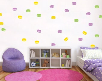Macaroon colorful wall decal - Vinyl Wall Sticker