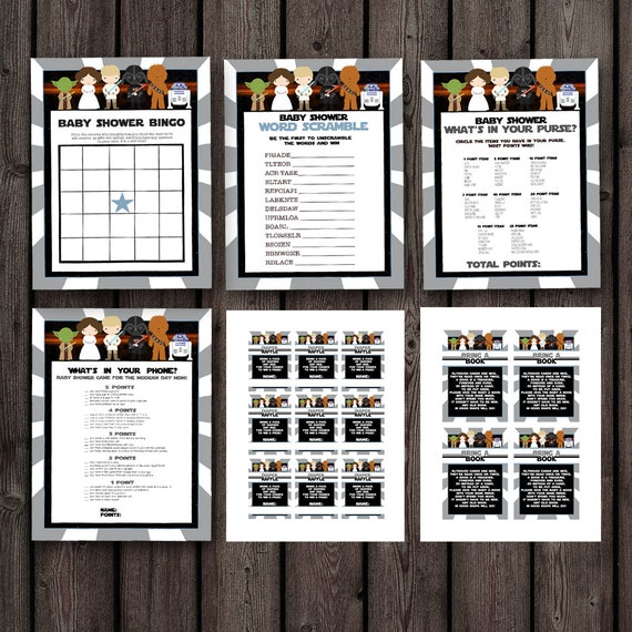 star wars baby shower games instant download at purchase star wars