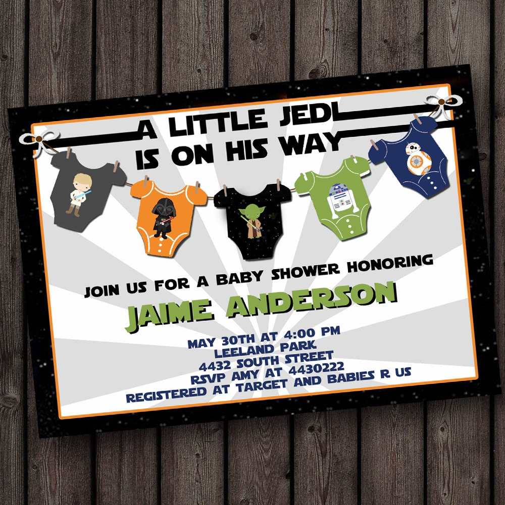 starwars baby shower invitation star wars baby shower