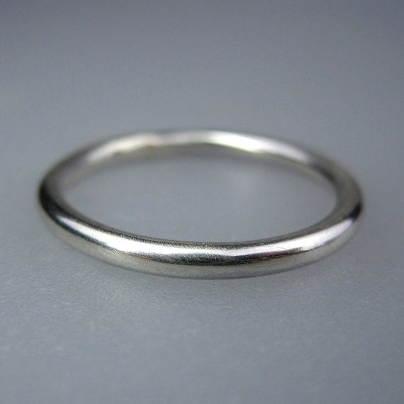 Sterling Silver Wedding Ring Plain Sterling Silver Wedding