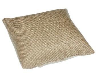"Burlap Pillow for Watches or Bracelets 4""x4"" (Pkg of 2)  (DIS3120)"