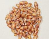Paper Beads, Loose Handmade Supplies Barrel Fall Leaves