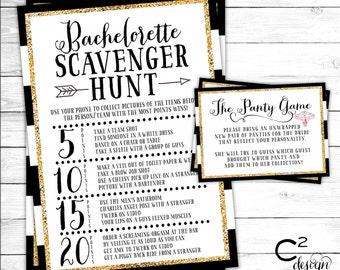 Bachelorette Game Package | Stripes & Glitter