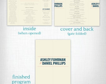 Wedding Programs: Ashley + Daniel