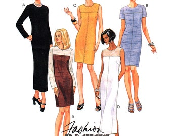 McCall's Sewing Pattern 8834 Misses' Dress in two lengths  Size:  C  10-12-14  Used