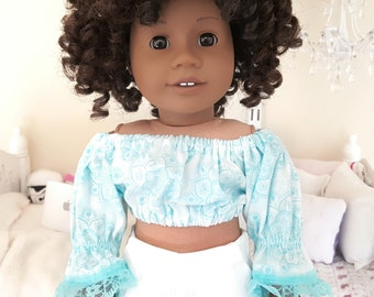 18 inch doll peasant blouse