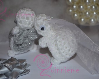 Bride and groom little turtles, cute wedding gift, wedding anniversary, Mr and Mrs gift, wedding couple