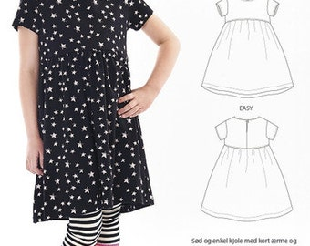 Minikrea sewing patterns - dress with shirred skirt 50011