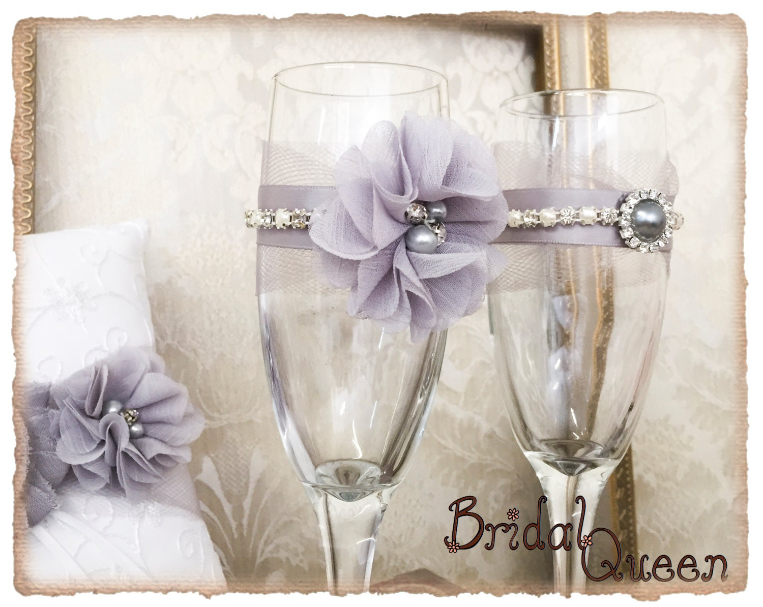 Wedding Champagne Flutes, Bridal Champagne Glasses, Wedding Flutes ...