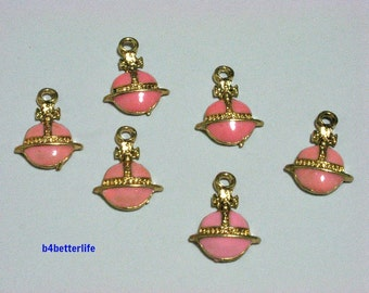 "Lot of 24pcs ""Jewel Box"" Gold Color Plated Enameled Metal Charms. #HY1311."
