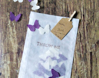 10 x Personalised Confetti GLASSINE bags - acid free - 105x150 mm with craft tag