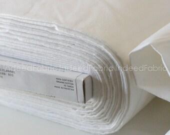 ORGANIC Flannel Fabric, Solid White, Cloud 9 Fabrics, Half-Yard