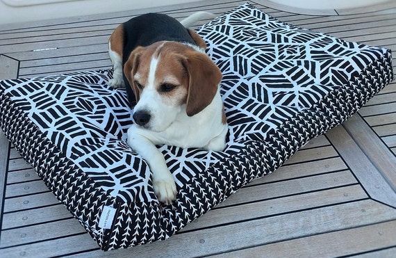 'Ripley' Dog Bed Cover.  Black and White Pet Bed - SMALL MEDIUM LARGE