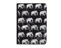 "Black & Grey Marble Elephants Universal 8.9-10.1"" Leather Flip Case Cover - iPad 1 2 3 4 iPad Air 1 2 Samsung Tab A E S2 9.6"" 9.7"" + More"