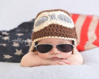 Newborn Aviator Hat - Photography Prop