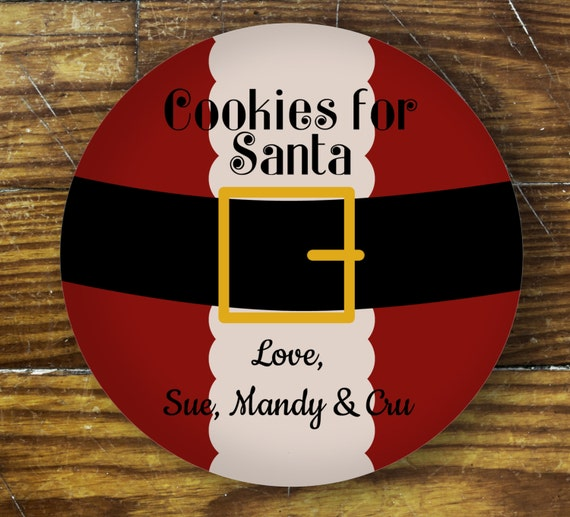 Personalized Dinner Plate - Cookies for Santa