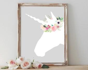 unicorn wall art | etsy