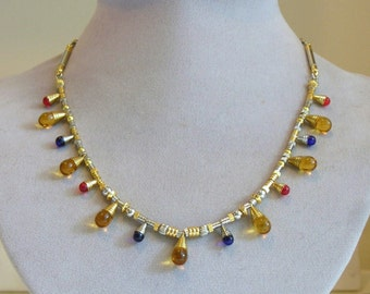 Late Roman Empire Style Necklace and Earring Set I