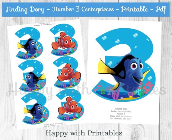 Finding Dory Number 3 Centerpieces Dory Centerpieces
