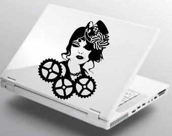 Steampunk Girl Decal AA91