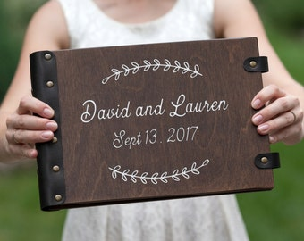 Custom Guest Book, Photo Album, Wedding Album,  Wedding Guest Book, Guest Book, Personalized, Rustic Guest Book, Wedding, Wood Guest Book