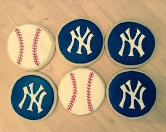 New York Yankees Sugar Cookies