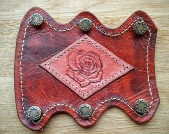 Archery Armguard / Leather Bracer - Rose