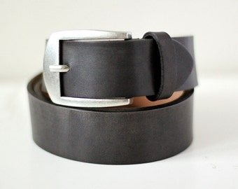 Free shipping! Gray belt, leather belt, mens belt, wide belt, thick belt, gray leather belt, belt for jeans, belt for gift