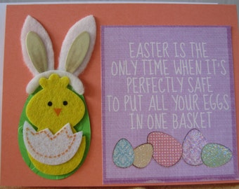 Eggs in One Basket Easter Greeting Card