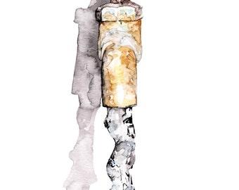 "Water Spigot 2 Painting - Print from Original Watercolor Painting, ""Garden Spigot 2"", Faucet, Water Faucet, Antique Faucet"