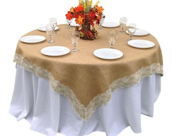 60 burlap tablecloth etsy for 60 burlap