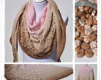 Knitting Pattern Lace Shawl Caramelito