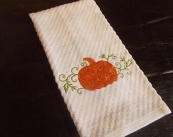 Pretty pumpkin kitchen towel
