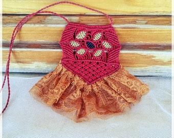Macrame necklace/boho/bohemian/bohochic/like a dress/Adjustable/Μακραμε κολιε