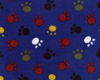 "Paw Print Corduroy, 100% cotton, 60"" wide"