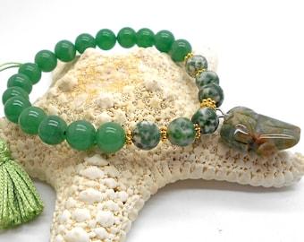 Lucky Frog Beaded Bracelet- Hawaiian Coqui Frog, Hawaii, Frog, Lucky, Beaded Bracelet, Fertility, Abundance, Lucky Charm