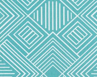 Coastal Blue Geometric Fabric - By The Yard - Girl / Boy / Gender Neutral