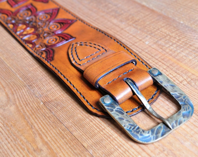 Leather Waist Belt, Corset Belt, Leather Belt, Wide Tan Leather Belt, Waist bohemian belt, Accessories, Solid brass buckle