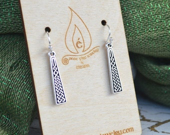 Celtic Braid Long Earrings with Sterling silver ear wires