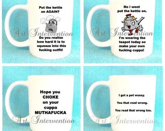 Funny Adult Mugs - Put The Kettle on