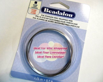 Stainless Steel Wire, Square, Bedalon, 18 Gauge, Wire Wrapping Wire, Silver Wire, Wire Wrapping Wire, Hypoallergenic Wire