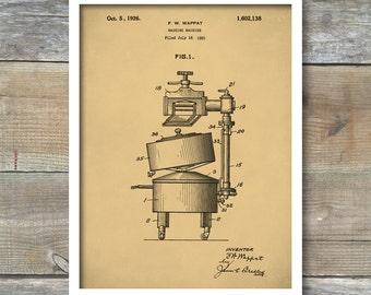 Patent Print, Patent Art, Electric Washing Machine From 1926 - Patent Art Print,  Kitchen Decor - Laundry Art - Laundry Room, P241