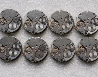 "SALE... 1 "" .  Set of 47  Vintage Soviet Watch movements , steampunk parts , cuff links supplies , clockwork movements"
