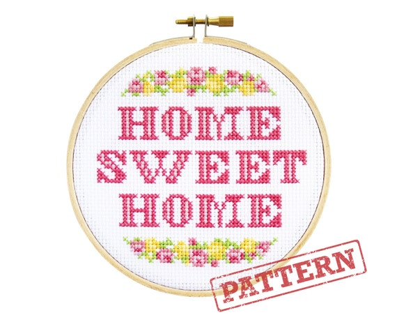Home sweet home cross stitch pattern for Home sweet home designs