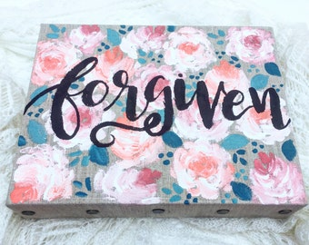Forgiven Floral Painting