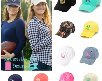 Monogrammed Womens Hat, Monogrammed Baseball Hat, Personalized Hat, Monogrammed Cap, Embroidered Hat,  Valentine's, Bridesmaid Gift
